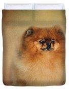 Proud Pomeranian Duvet Cover
