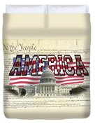 Proud To Be American Duvet Cover