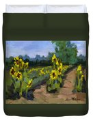 Provence Sunflower Field Duvet Cover