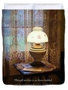 Proverbs 24 3 Through Wisdom Is An House Builded Duvet Cover