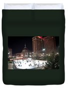 Providence On A Cold December Evening Duvet Cover