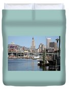 Providence River And Point St Bridge Duvet Cover