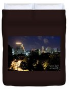 Providence Skyline At Dusk Duvet Cover