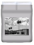 Ps City Hall Front Bw Palm Springs Duvet Cover