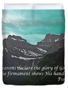 Psalm 19 1 On The Rocky Mountains Duvet Cover