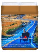 Psalm 23 Country Roads Duvet Cover