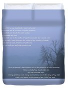 Psalm 23 Foggy Morning Duvet Cover