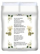 Psalm 23 From The Holy Bible Duvet Cover by Anne Norskog