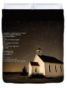 Psalm 23 Night Photography Star Trails Duvet Cover