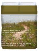 Psalm 23 Path  Duvet Cover