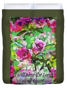 Psalm 34 1 Duvet Cover