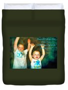 Psalm 63 4 Duvet Cover