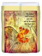 Psalm 9 17 Duvet Cover