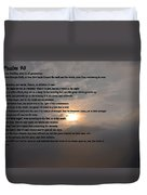 Psalm 90 Duvet Cover by Bill Cannon