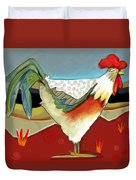 Psychadelic Chicken 2 Duvet Cover