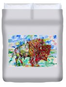 Psychedelic Buffalo Duvet Cover