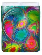Psychedelic Colors Duvet Cover