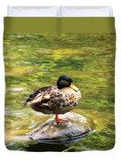 Psychedelic Duck  Duvet Cover