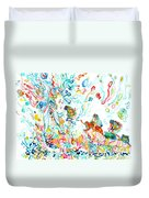 Psychedelic Goddess With Toads Duvet Cover