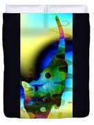 Psychedelic Kitty Duvet Cover