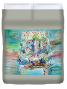Psychedelic Object Duvet Cover