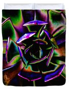 Psychedelic Rubber Plant Duvet Cover