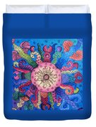 Psychedelic Squid 2 Duvet Cover