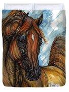 Psychodelic Chestnut Horse Original Painting 2 Duvet Cover