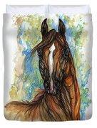 Psychodelic Chestnut Horse Original Painting Duvet Cover