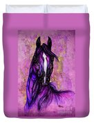 Psychodelic Purple Horse Duvet Cover