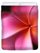 Pua Lei Aloha Cherished Blossom Pink Tropical Plumeria Hina Ma Lai Lena O Hawaii Duvet Cover