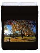 Public Garden Fall Tree Duvet Cover