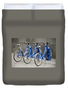 Public Shared Bicycles In Melbourne Australia Duvet Cover