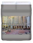 Public Square Cleveland Ohio Duvet Cover