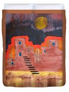 Pueblito Original Painting Duvet Cover