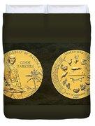 Pueblo Of Acoma Tribe Code Talkers Bronze Medal Art Duvet Cover