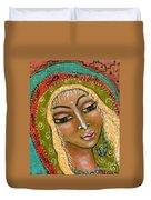 Pueblo Priestess Duvet Cover
