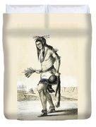 Pueblo Zuni Buffalo Dance, 1850s Duvet Cover