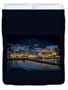 Puentedeume View From Cabanas Galicia Spain Duvet Cover
