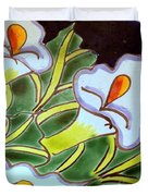 Calla Lillies Splashed Duvet Cover