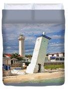 Puerto Morelos Lighthouses Duvet Cover