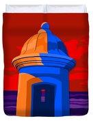 Puerto Rico Turret Duvet Cover