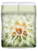 Puff Ball Glacier National Park Duvet Cover