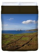 Puffin Island From The Skelligs Ring Duvet Cover