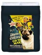 Pug Art - Abbott And Costello Go To Mars Duvet Cover