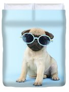 Pug Cool Duvet Cover by Greg Cuddiford