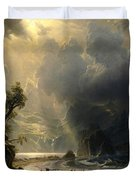 Puget Sound On The Pacific Coast Duvet Cover