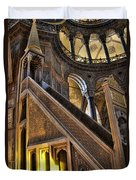 Pulpit In The Aya Sofia Museum In Istanbul  Duvet Cover by David Smith