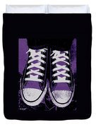 Pumped Up Purple Duvet Cover