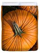 Pumpkin Aerial View Duvet Cover